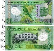 Изображение Банкноты Гамбия 20 даласи 2014  UNC Яйя Джамме. Карминов