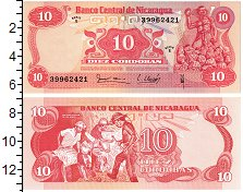 Изображение Банкноты Никарагуа 10 кордоба 0  UNC Андрес Кастро