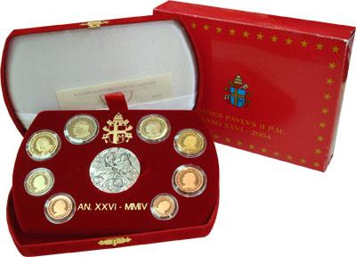 Изображение Подарочные монеты Европа Ватикан Иоанн Павел II 2004  Proof