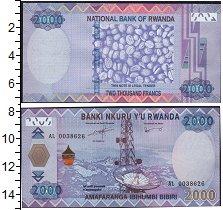 Изображение Банкноты Африка Руанда 2000 франков 2014  UNC