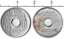 Изображение Монеты Индокитай 1 сантим 1943 Алюминий XF