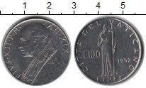 Изображение Монеты Ватикан 100 лир 1957 Медно-никель UNC-