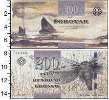 Изображение Банкноты Европа Фарерские острова 200 крон 0  UNC