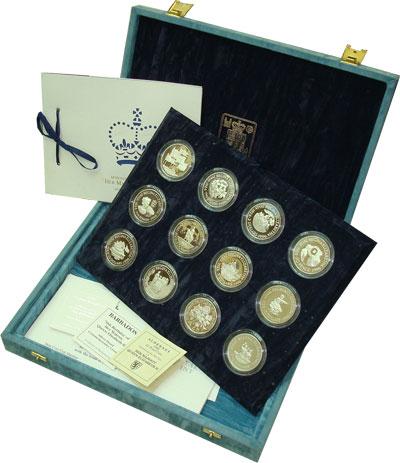 Изображение Подарочные монеты Великобритания 70 лет ее Величеству королеве Елизавете II 1996 Серебро Proof