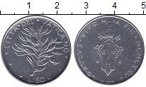 Изображение Мелочь Европа Ватикан 50 лир 1975 Медно-никель UNC-