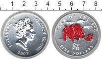 Изображение Монеты Соломоновы острова 5 долларов 2007 Серебро UNC- Елизавета II. Год ка