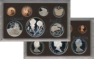 Изображение Подарочные монеты Австралия и Океания Новая Зеландия Выпуск 1981 года 1981  Proof