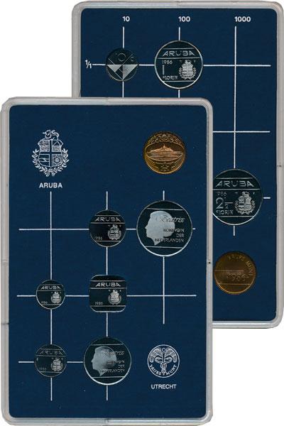 Изображение Подарочные монеты Нидерланды Аруба Выпуск 1986 года 1986  UNC