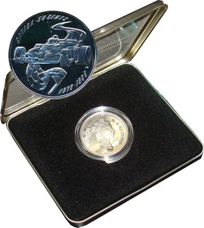 Изображение Подарочные монеты Канада 50 центов 1998 Серебро Proof
