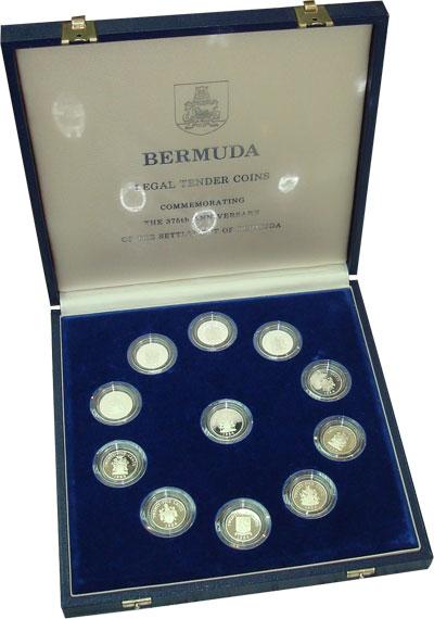 Изображение Подарочные монеты Великобритания Бермудские острова 375-я годовщина поселения 1984 Серебро Proof