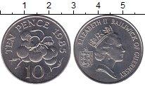 Изображение Мелочь Великобритания Гернси 10 пенсов 1985 Медно-никель UNC-