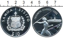 Изображение Монеты Австралия и Океания Самоа 10 тала 1991 Серебро Proof-