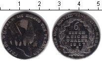 Изображение Монеты Германия Пруссия 1/6 талера 1817 Серебро
