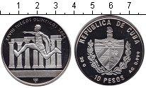 Изображение Монеты Куба 10 песо 2002 Серебро Proof-