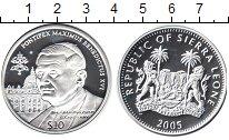 Изображение Монеты Сьерра-Леоне 10 долларов 2005 Серебро Proof- Бенедикт XVI