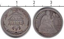 Изображение Монеты Северная Америка США 1 дайм 1884 Серебро VF