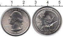 Изображение Мелочь США 1/4 доллара 2015 Медно-никель UNC