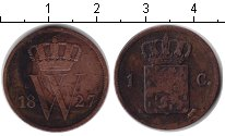 Изображение Монеты Европа Нидерланды 1 цент 1827 Медь VF