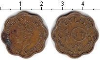 Изображение Монеты Цейлон 10 центов 1944 Медь VF