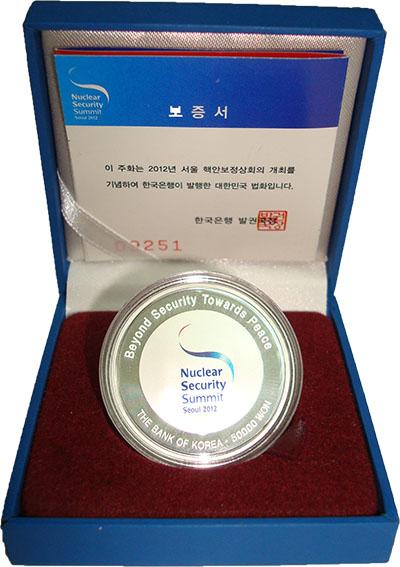 Изображение Подарочные монеты Азия Южная Корея Саммит по ядерной безопасности 2012 Серебро Proof