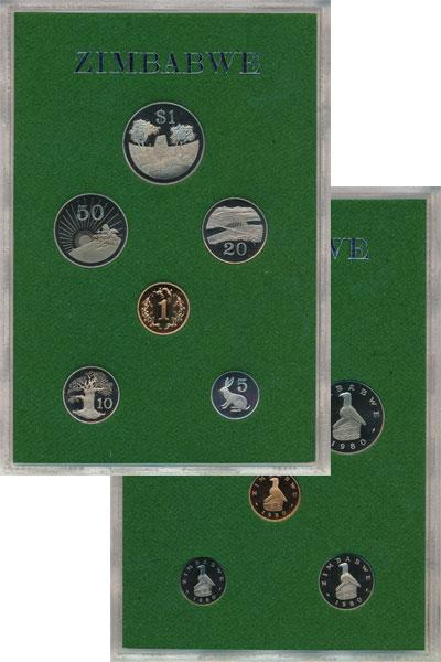 Изображение Подарочные монеты Зимбабве Выпуск 1980 1980  Proof