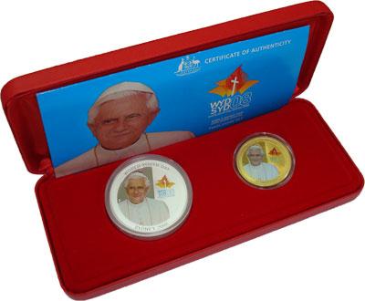 Изображение Подарочные монеты Австралия и Океания Австралия Всемирный день молодежи 2008 Серебро Proof