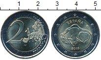 Изображение Мелочь Испания 2 евро 2015 Биметалл UNC