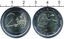 Изображение Мелочь Италия 2 евро 2015 Биметалл UNC 750 лет со дня рожде