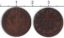 Изображение Монеты Германия Нассау 1/4 крейцера 1822 Медь VF