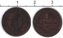 Изображение Монеты Германия Саксония 1 пфенниг 1863 Медь VF
