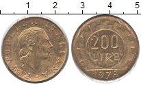Изображение Монеты Европа Италия 200 лир 1978 Латунь XF