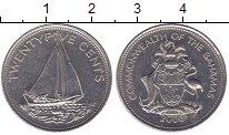 Изображение Мелочь Северная Америка Багамские острова 25 центов 1985 Медно-никель