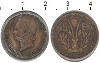Изображение Монеты Французская Африка 5 франков 1956 Медь