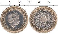 Изображение Монеты Великобритания 2 фунта 2001 Биметалл UNC-