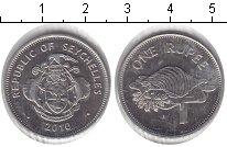 Изображение Монеты Африка Сейшелы 1 рупия 2010 Медно-никель XF