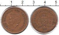 Изображение Монеты Антильские острова 1 гульден 1989  XF Беатрикс