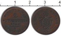 Изображение Монеты Германия Саксония 2 пфеннига 1864 Медь XF