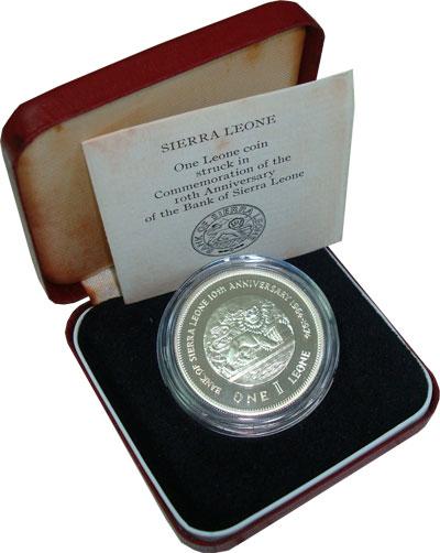 Изображение Подарочные монеты Саар 10-летие национального банка 1974 Серебро Proof