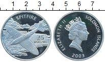 Изображение Монеты Соломоновы острова 25 долларов 2003 Серебро Proof- Елизавета II. SPITFI