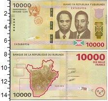Изображение Банкноты Африка Бурунди 10000 франков 2015  UNC-