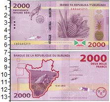 Изображение Банкноты Африка Бурунди 2000 франков 2015  UNC