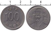 Изображение Дешевые монеты Южная Корея 100 вон 1994 Медно-никель VF