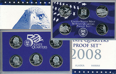 Изображение Подарочные монеты Северная Америка США Пруф-сет 2008 года 2008 Медно-никель Proof