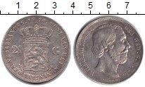 Изображение Монеты Нидерланды 2 1/2 гульдена 1874 Серебро XF