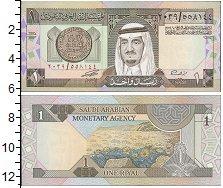 Изображение Банкноты Саудовская Аравия 1 риал 1984  UNC