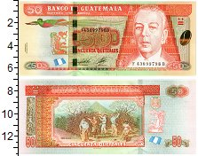 Изображение Банкноты Гватемала 50 кетсалей 2012  UNC К.О. Захриссон. Сбор