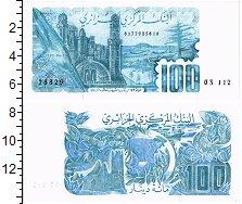 Изображение Банкноты Алжир 100 динар 1982  UNC Мечеть и здания на б