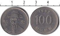 Изображение Дешевые монеты Азия Южная Корея 100 вон 1992 Медно-никель XF