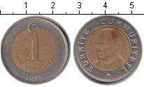 Изображение Дешевые монеты Не определено 1 лира 2005 Биметалл XF