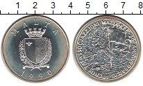 Изображение Монеты Европа Мальта 5 лир 1990 Серебро UNC-